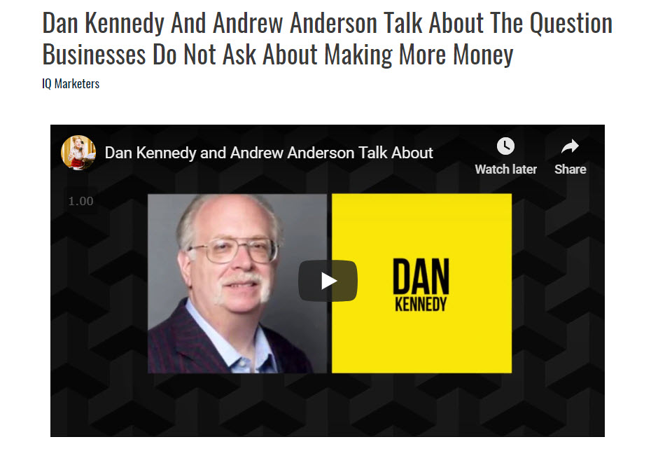 Dan Kennedy And Andrew Anderson